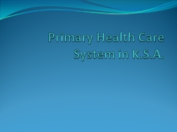 Primary Health Care  /  Family Medicine