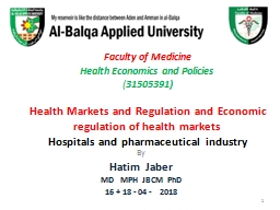 Faculty of Medicine  Health Economics and Policies
