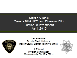 Marion County  Senate Bill 416/Prison