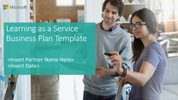Learning as a Service Business Plan Template