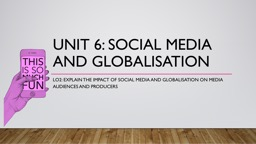 Unit 6: Social Media and PowerPoint PPT Presentation