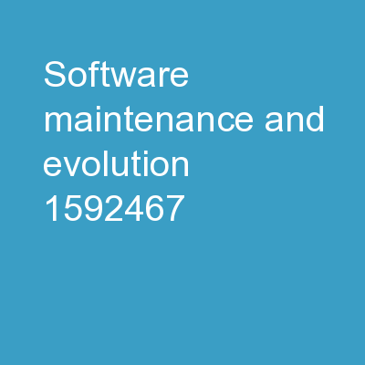 Software Maintenance and Evolution