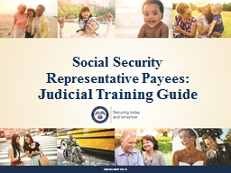 Social Security  Representative Payees: