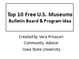 Top 10 Free U.S. Museums