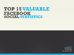 TOP 15  VALUABLE FACEBOOK PowerPoint PPT Presentation