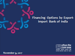 Financing Options  by  Export-Import