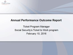 Annual Performance Outcome Report PowerPoint PPT Presentation