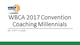 WBCA 2017 Convention Coaching Millennials