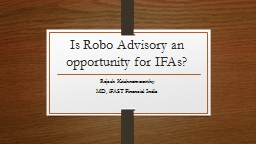 Is  Robo  Advisory an opportunity for IFAs?