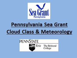 Pennsylvania Sea Grant Cloud Class & Meteorology
