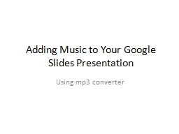 Adding Music to Your Google