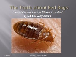 The Truth about Bed Bugs