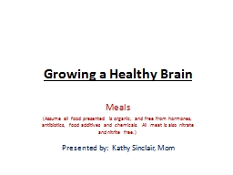 Growing a Healthy Brain Meals