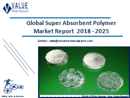 Super Absorbent Polymer Market 2018 | Global Opportunities and Forecast by 2025
