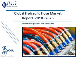 Hydraulic Hose Market 2018-2025 Global Industry Research Report PowerPoint PPT Presentation