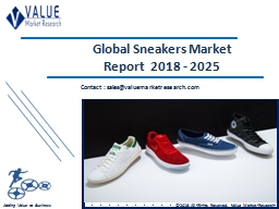 Sneakers Market 2018-2025 Global Industry Research Report