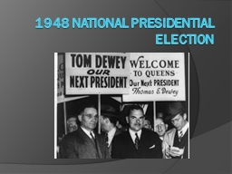 1948 National Presidential Election