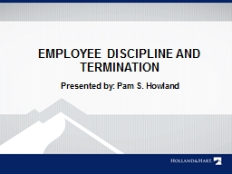 EMPLOYEE DISCIPLINE AND TERMINATION PowerPoint PPT Presentation