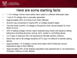 Here are some startling facts: