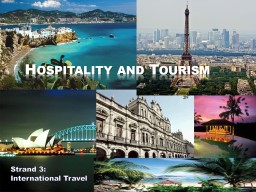 Hospitality and Tourism Strand PowerPoint PPT Presentation