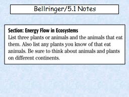 Bellringer /5.1 Notes 5.1