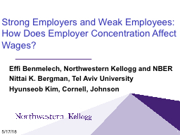 Strong Employers and Weak Employees: How Does Employer Concentration Affect Wages?