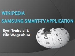 wikipedia Samsung Smart-TV application