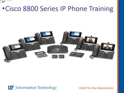 Cisco 8800 Series IP Phone Training