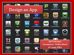 Design an App Gail Dickinson