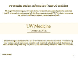 Protecting Patient Information (HIPAA) Training