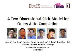 A Two-Dimensional Click Model for Query