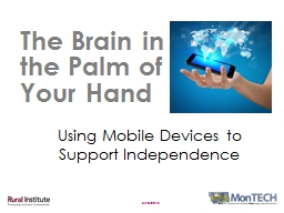 5/18/2015 The Brain in the Palm of Your Hand