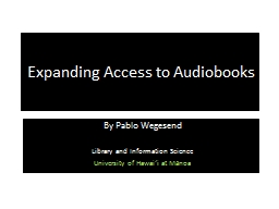 Expanding Access to Audiobooks