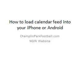 How to load calendar feed into your iPhone or Android