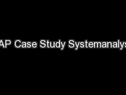SAP Case Study Systemanalyse