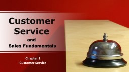Chapter 2 Customer Service