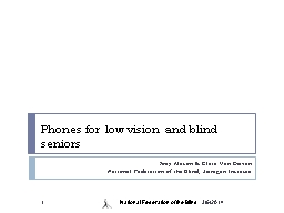 Phones for low vision and blind seniors