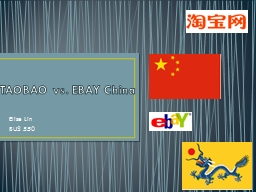 TAOBAO vs. EBAY China Elise Lin