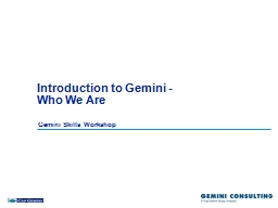 Introduction to Gemini -