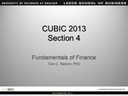 CUBIC  2014 Section 4 Fundamentals of Finance