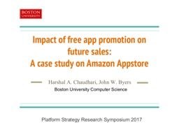 Impact  of free app  promotion