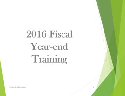 2017 Fiscal  Year-end  Training