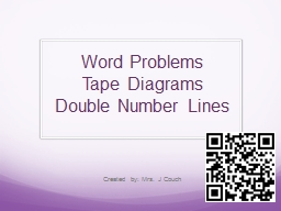 Word Problems  Tape Diagrams