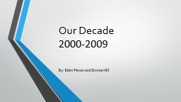 Our Decade  2000-2009