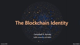 The  Blockchain  Identity