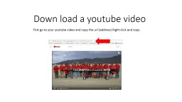 Down load a  youtube  video
