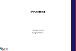 IP Publishing  From IP Data Base  to IP list to IP catalog