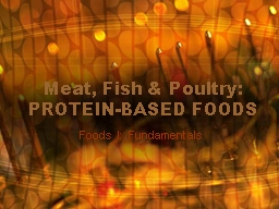 Meat, Fish & Poultry: