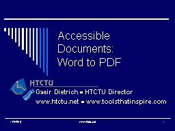 Accessible Documents: Word to PDF
