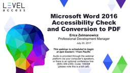 Microsoft Word 2016 Accessibility Check